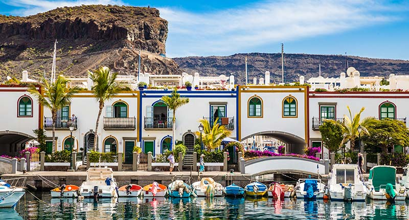 Europese vakantie bestemmingen in oktober Gran Canaria