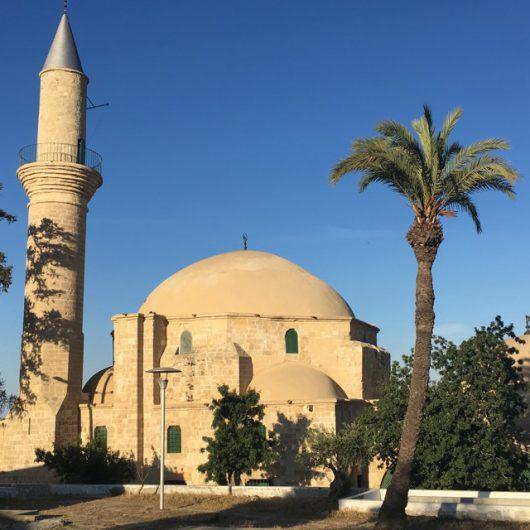 Moskeen Hala Sultan Tekke på Cypern