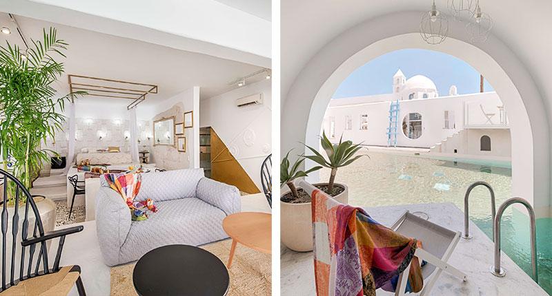 Luxe adresjes voor een huwelijksreis in Europa - Hotel Kouros