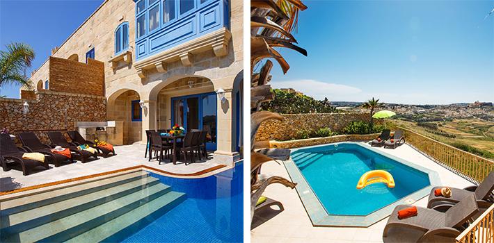 Luksusvillaer til en ferie med vennerne