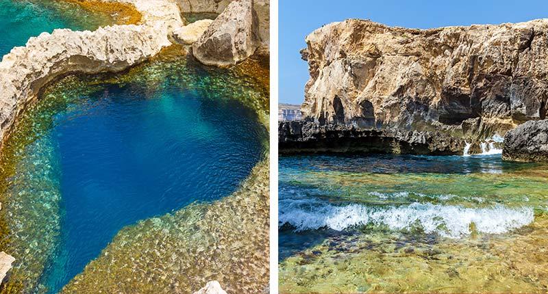 Bezienswaardigheden-vakantie-op-gozo-eliza-was-here-blue-hole